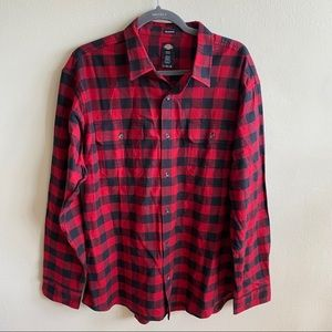 Dickies Relaxed Fit Checkered Plaid Button Shirt
